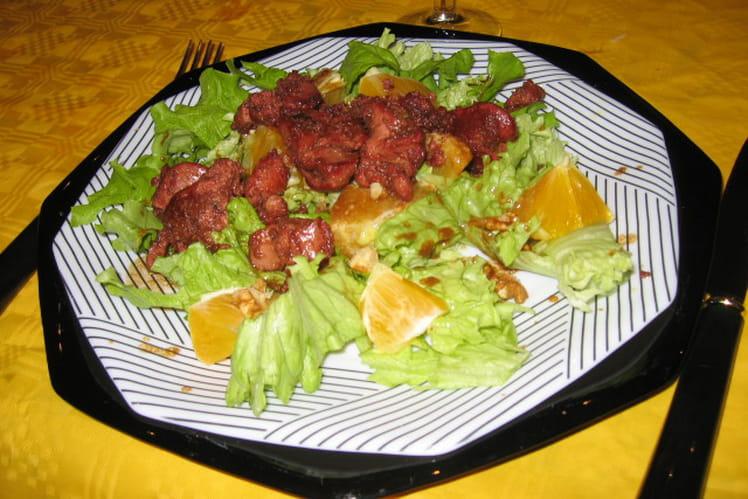 Salade aux foies de volaille et oranges