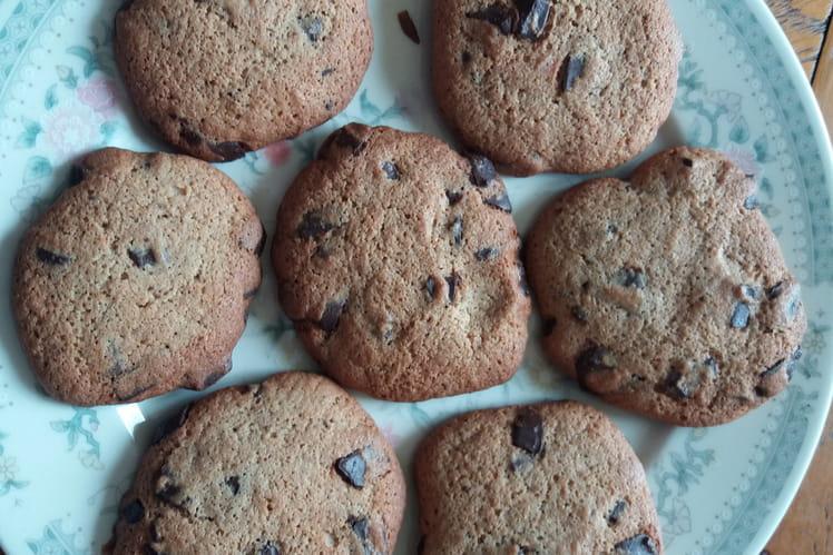 Cookies au chocolat sans lactose, sans gluten et sans oeuf