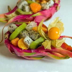 salade de fruits exotiques au fruit du dragon