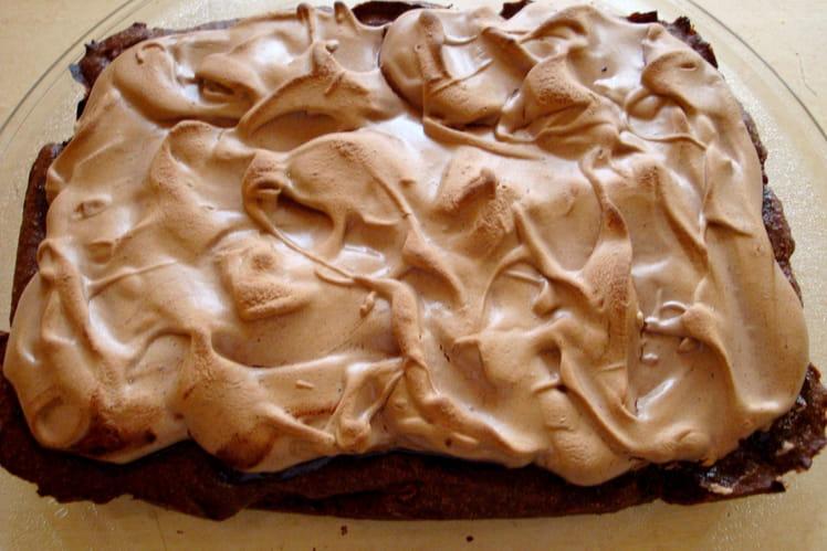 Brownie meringué