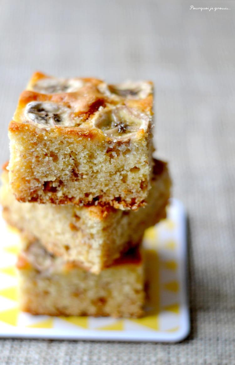 Recette de blondies aux bananes et au chocolat blanc la recette facile - Very parfait chocolat blanc ...