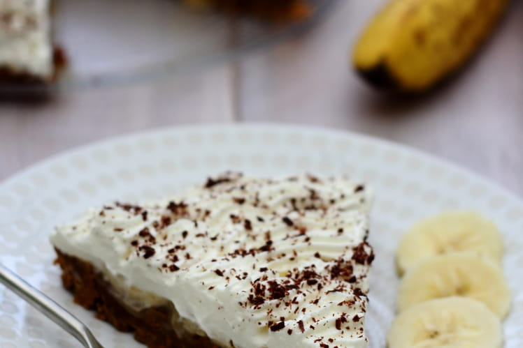 Banoffee pie aux bananes et chantilly
