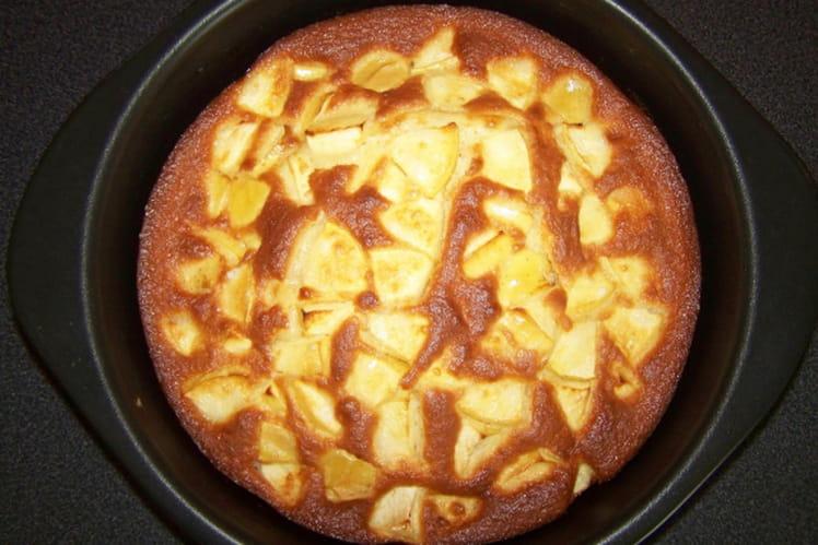 Clafoutis aux pommes sans beurre
