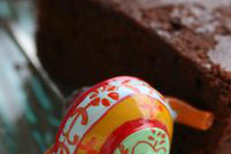 Fondant au chocolat noir, miel et piment d'Espelette