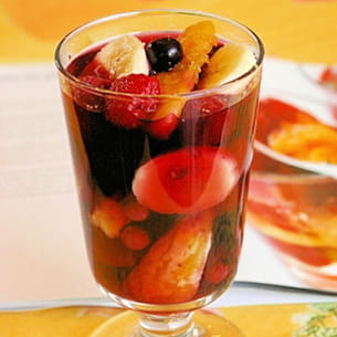 verrine de fruits en gelée
