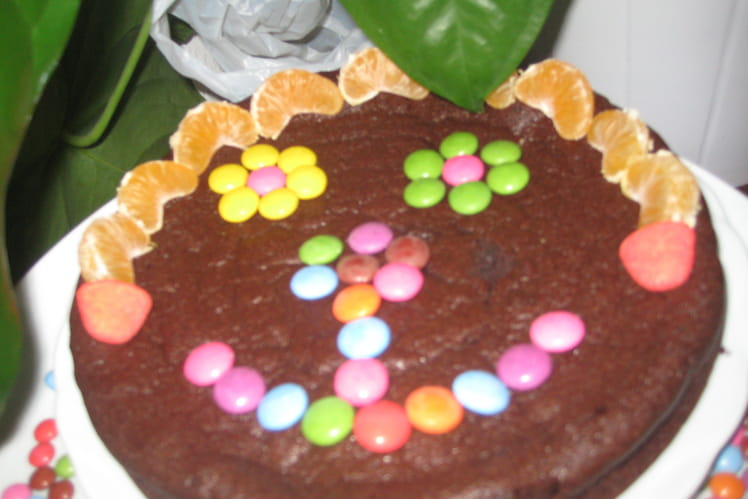 Gâteau au chocolat noir express